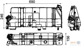 Hella 8MA376705261 - DEPOSITO EXPANSION MB ACTROS / SK (