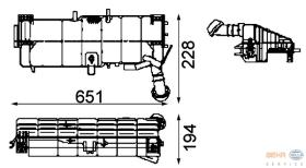 Hella 8MA376705361 - DEPOSITO EXPANSION MAN F2000