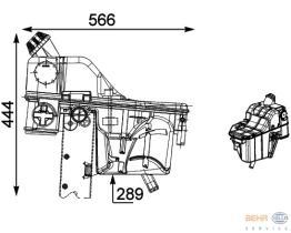 Hella 8MA376705471 - DEPOSITO EXPANSION SCANIA R104