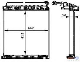 Hella 8MK376721261 - RAD.MB CLIMATROS(SKN V)W FRAME