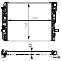 Hella 8MK376721271 - RADIADOR MB ATEGO II